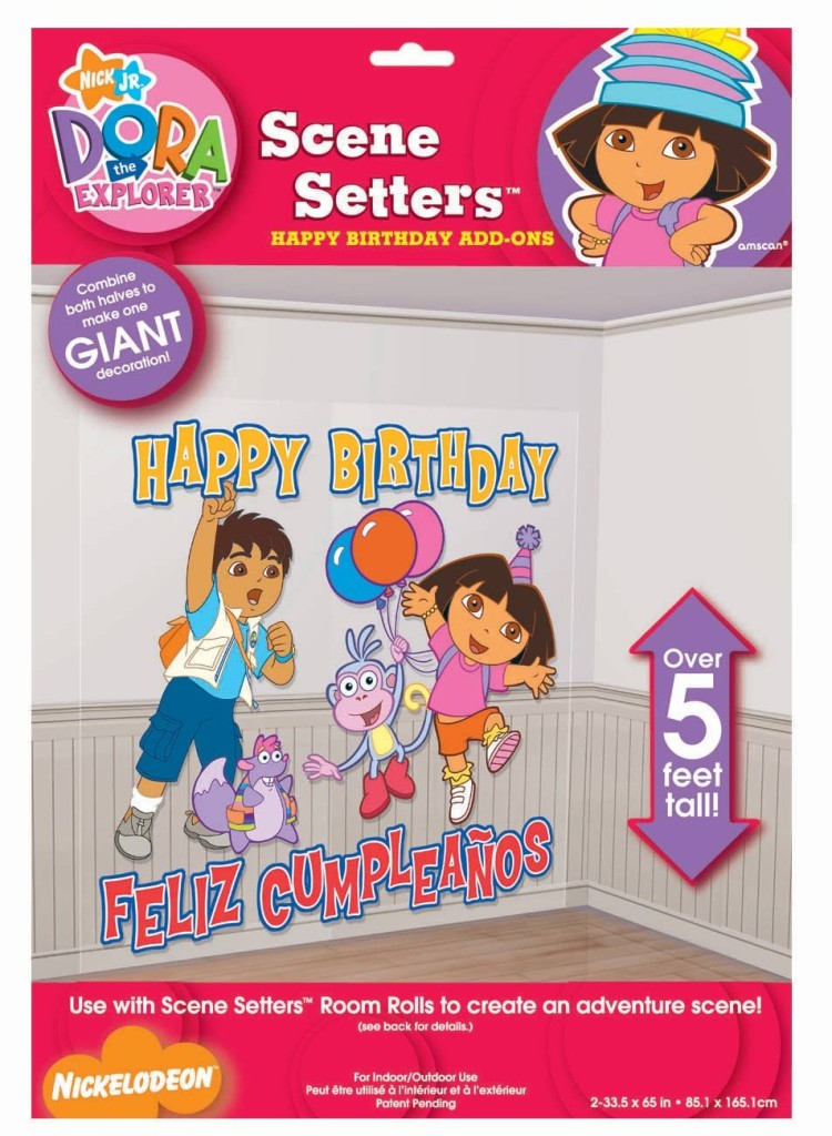 Dora Birthday Wall Decoration : Dora the explorer party supplies add on setters wall