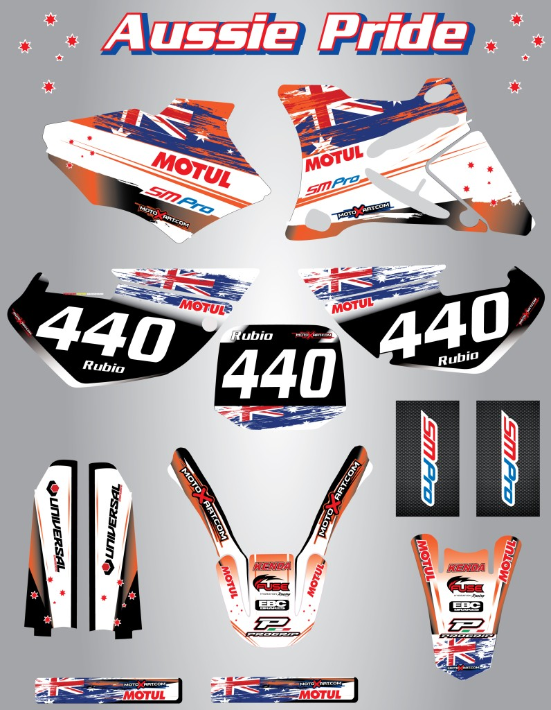 Full-Custom-Graphic-Kit-AUSSIE-PRIDE-KTM-105-SX-2006-2012