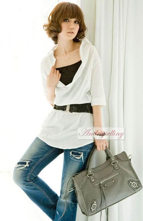 Womens Girl Lady Fashion Casual Elastic Stretch Shinning Sequin Waist