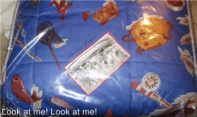 Queen Size Comforters on Fishing Patterned Themed Comforter Queen Size Nib   Ebay