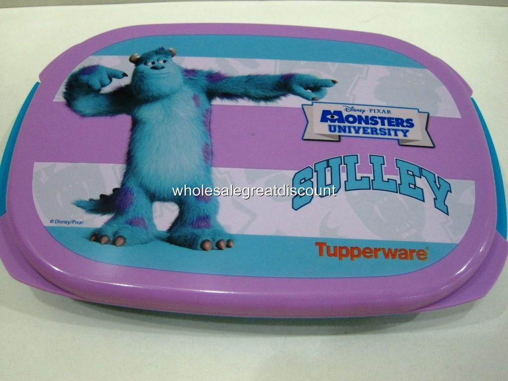 new tupperware disney pixar monster university sulley bento lunch box 560ml ebay. Black Bedroom Furniture Sets. Home Design Ideas
