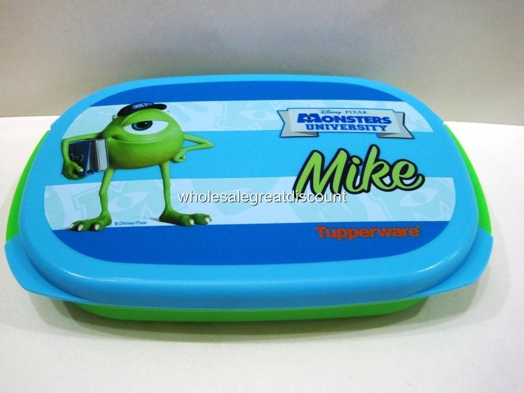 new tupperware disney pixar monster university mike bento lunch box 560ml ebay. Black Bedroom Furniture Sets. Home Design Ideas