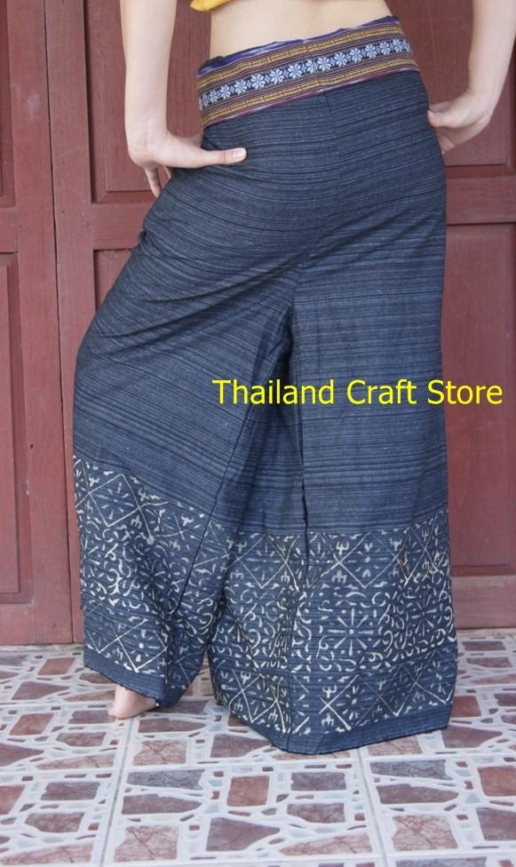 Thai Pescador Wrap Pantalones Pantalones de Yoga Masaje ...