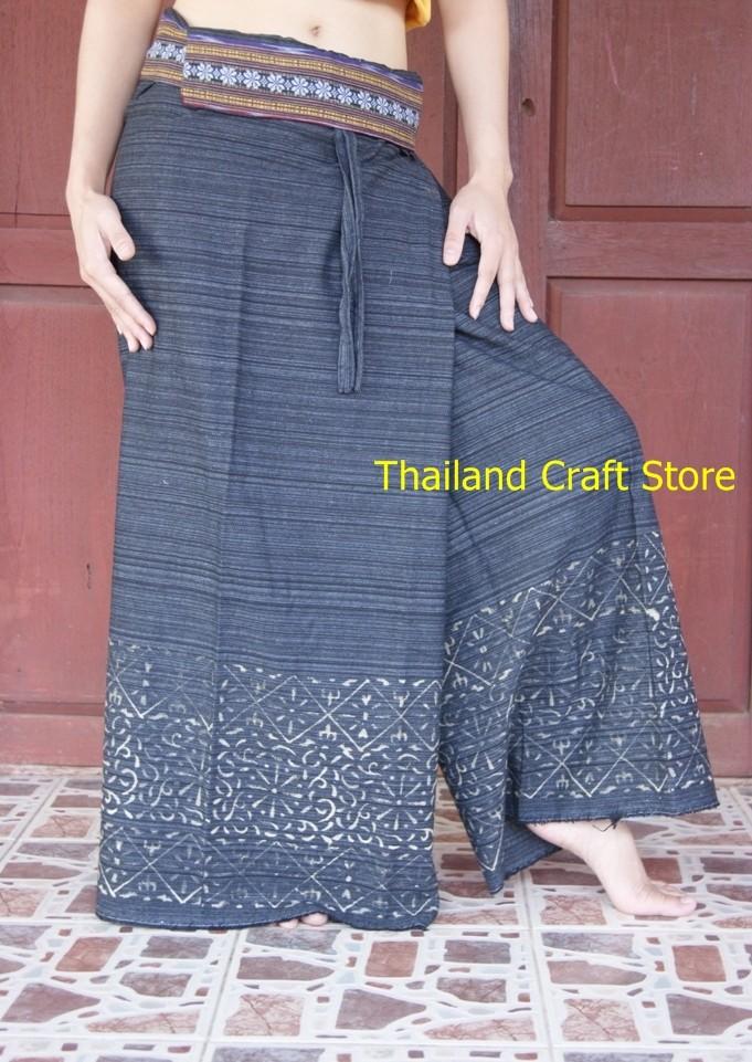 Thai Fisherman Wrap Trousers Pants Yoga Massage Hippy ...