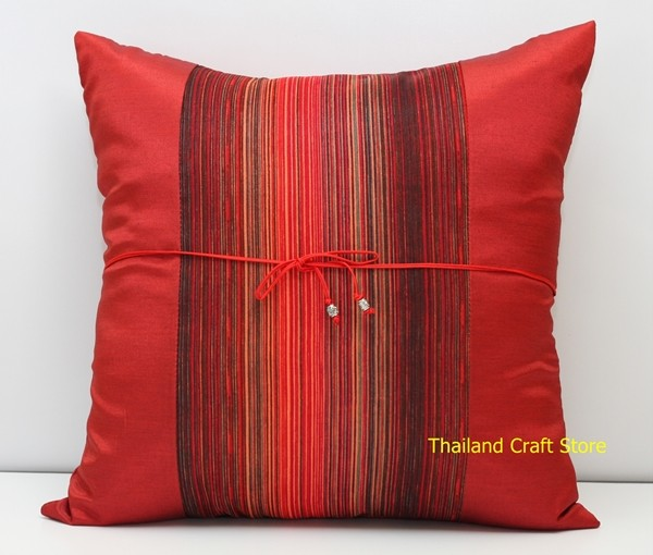 1 Pair / 2 Thai Silk Decorative Throw Cushion Pillow Cover Case Burnt Orange F8 eBay