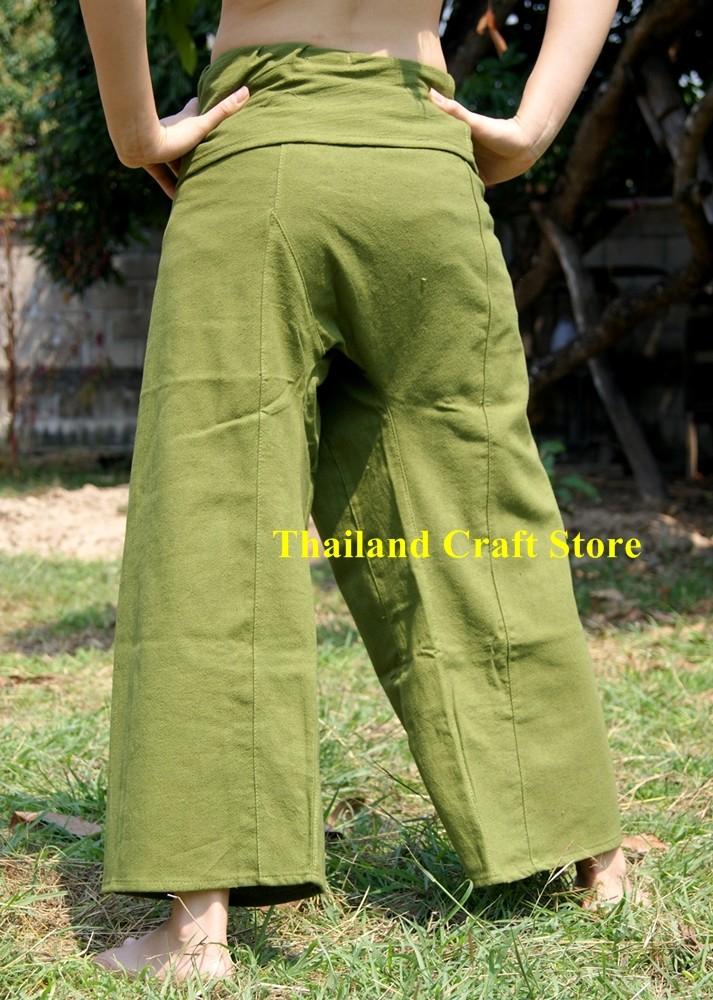 Thai Fisherman Trousers Pants Yoga Capoeira Kung Fu Tai ...