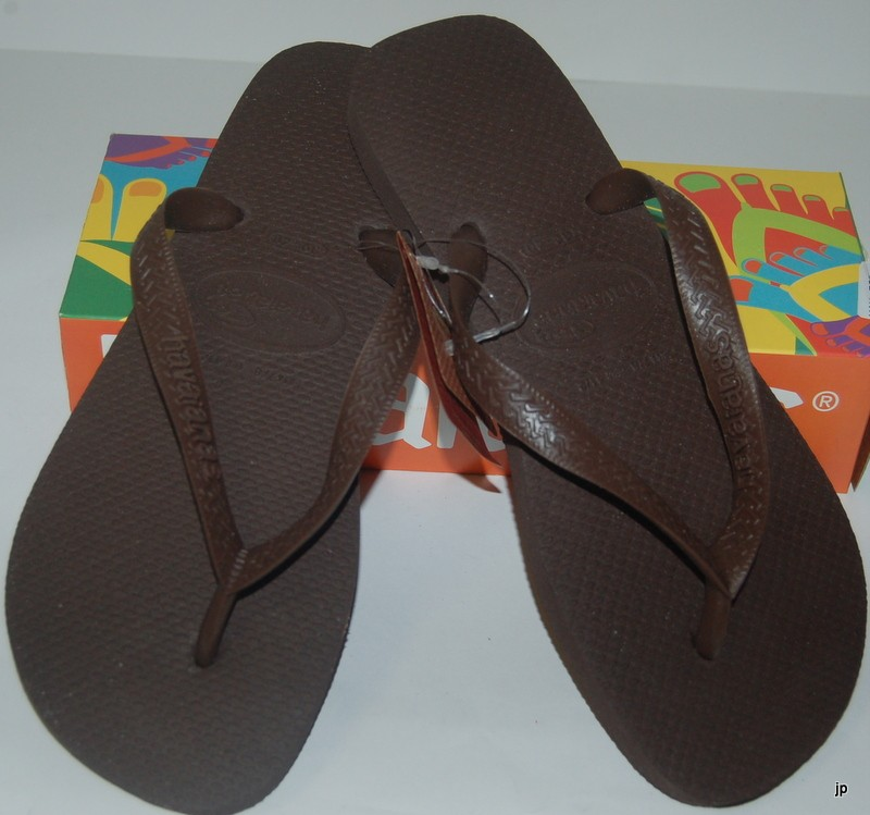 HAVAIANAS-GENUINE-BRAND-NEW-CHOCOLATE-BROWN-TOP-Unisex-THONGS-FLIP-FLOPS-Surf