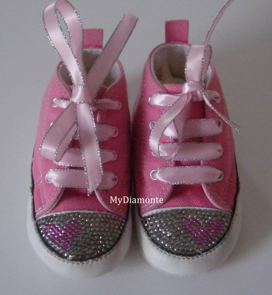Pink-Baby-Converse-Featuring-Clear-Swarovski-Crystals-Toddler-kids-adult-CO021