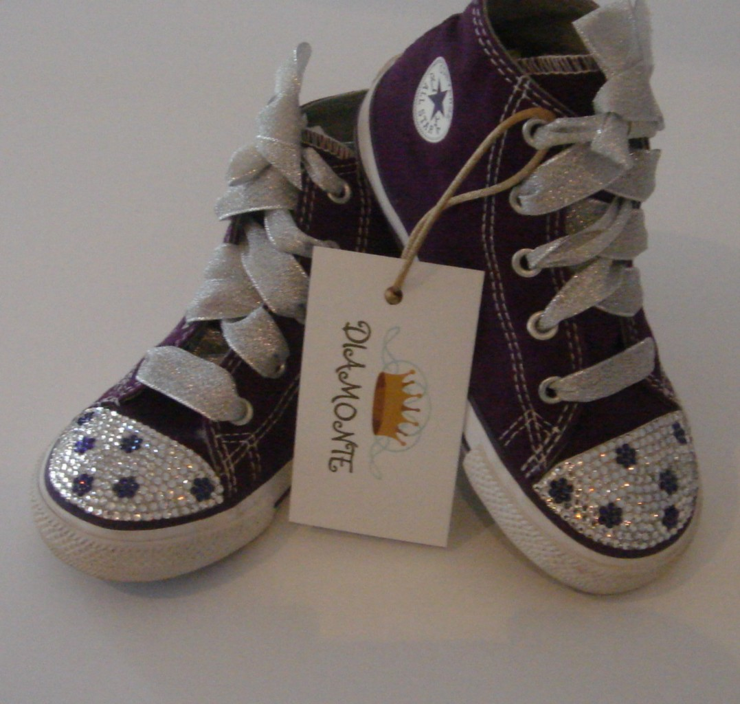 Purple-Converse-Featuring-Clear-Swarovski-Crystals-For-Toddler-Kids-Women-CO025
