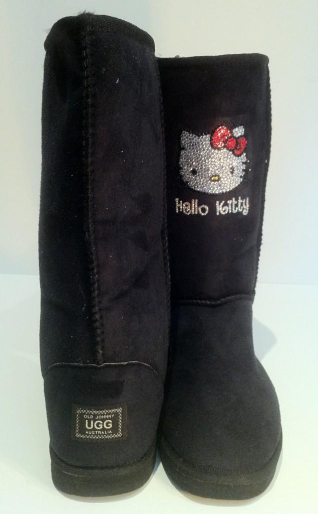 ugg boots custom made with hello swarovski crystals