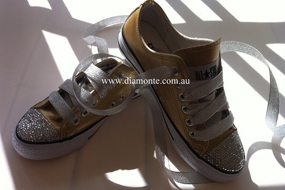Gold-Converse-Shoes-Featuring-Clear-Swarovski-Crystals