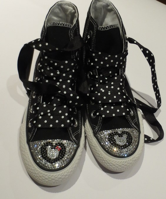 Black-Converse-Shoes-Featuring-Mickey-And-Minnie-Mouse-Swarovski
