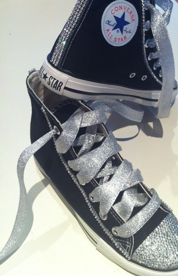 Black-Converse-Shoes-Featuring-Clear-Swarovski-Crystals
