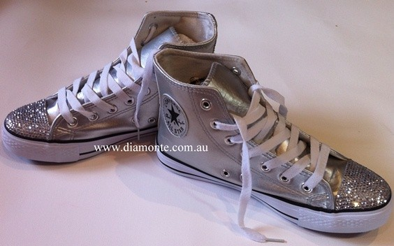 Silver-Converse-Shoes-Featuring-Clear-Swarovski-Crystals