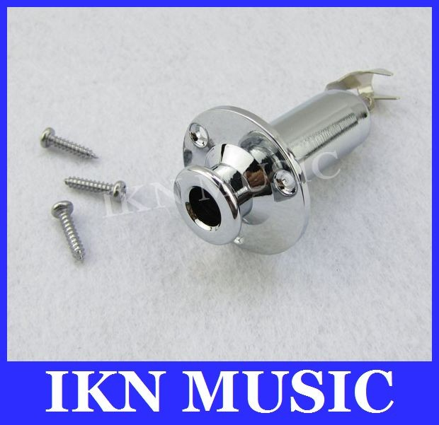 1pce Chrome Guitar Output Jack Strap Pin For Electric Acoustic Guitar Endpin
