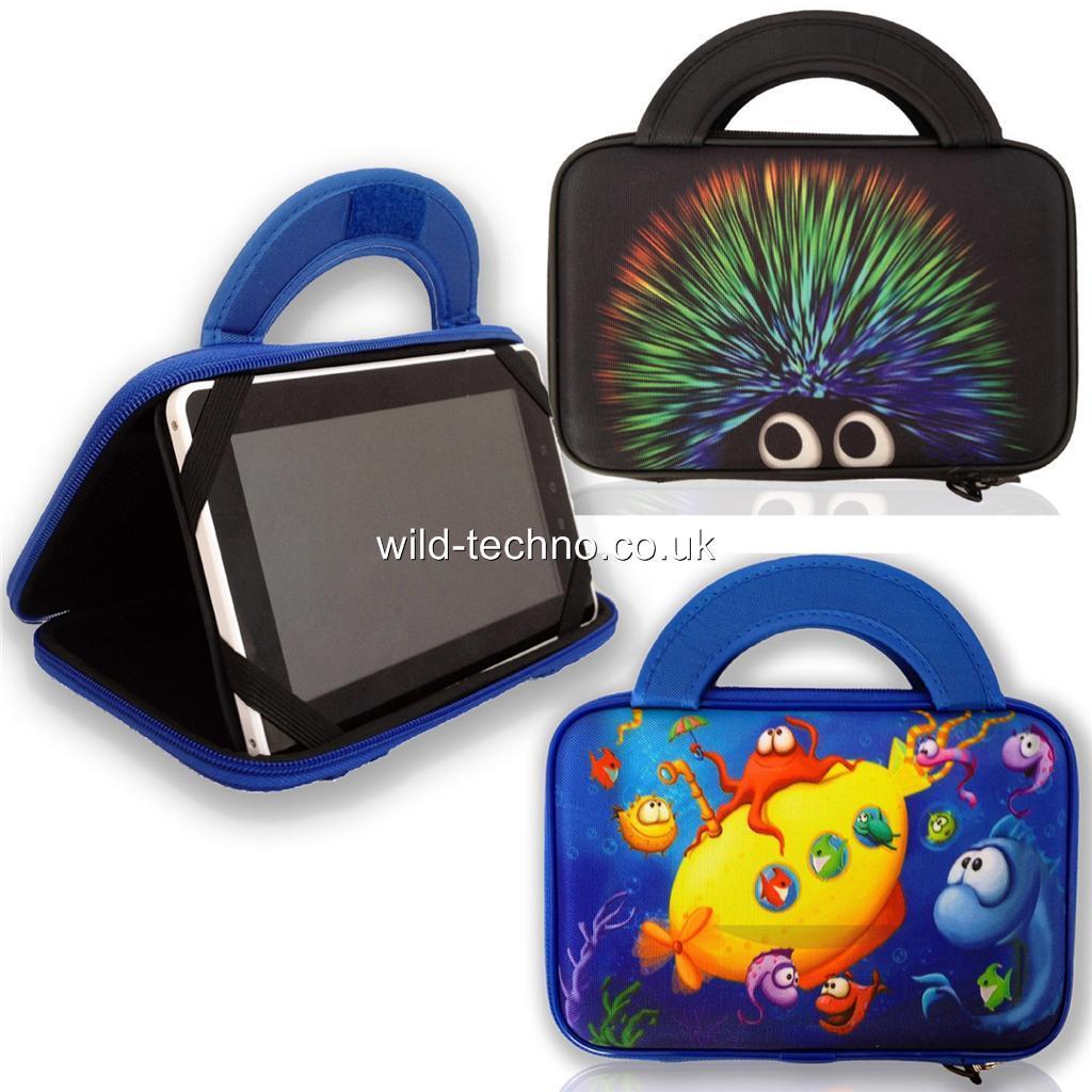 HARD-SHELL-Carry-Case-Bag-Stand-for-Tablet-Klastor-Rugged-Kids-7-inch