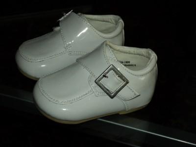 Baby  White Shoes on Baby Boy White Leather Tuxedo Shoes Wedding Size 5   Ebay