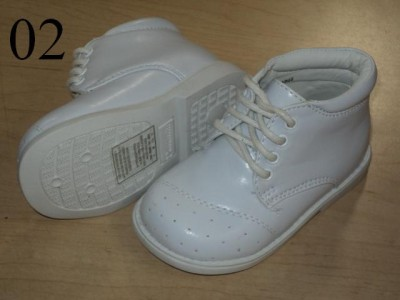 Baby White Shoes on Baby Boy White Leather Christening Baptism Shoes