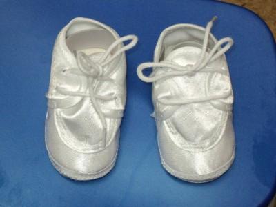 Baby  White Shoes on Baby Boys White Christening Baptism Shoes 222  Size 2   Ebay