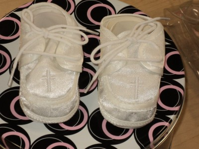Baby  White Shoes on Baby Boys White Christening Baptism Shoes 224  Size 2   Ebay