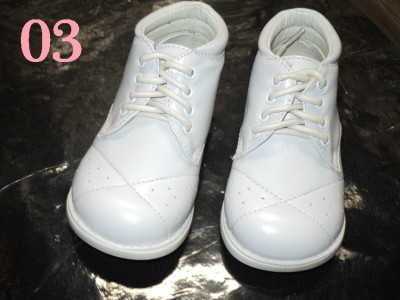 Baby  White Shoes on Baby Boy White Patent Leather Shoes Wedding W03  Size 4   Ebay