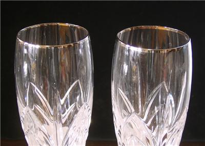 Waterford marquis stemware caprice platinum glassware wine goblets ebay - Waterford colored wine glasses ...