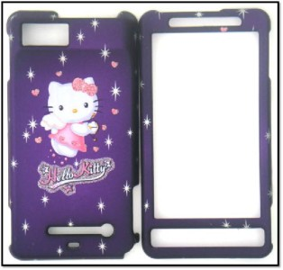 MOTOROLA DROID X MB810 HELLO KITTY PURPLE CELL PHONE COVER CASE
