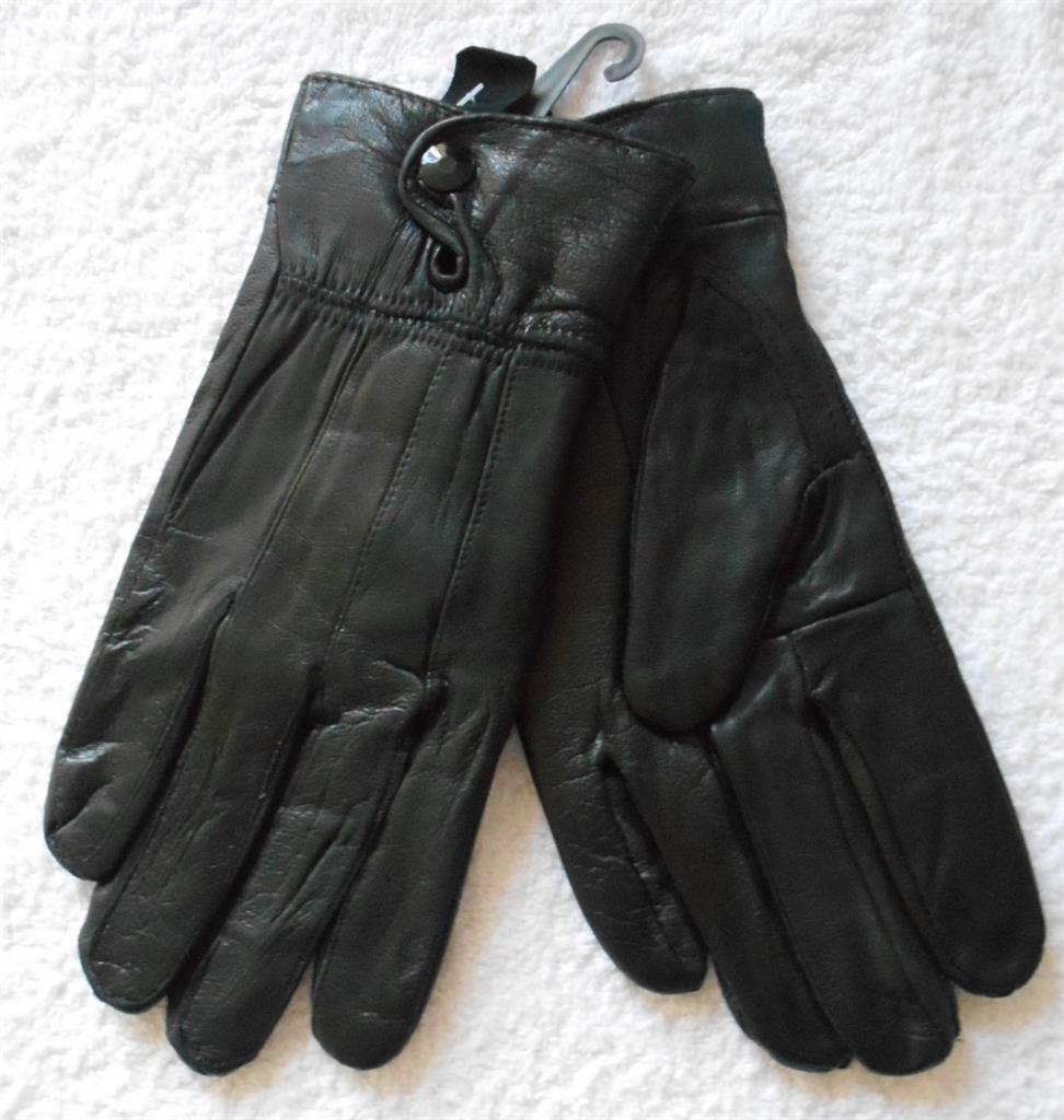 Womens leather gloves burgundy - Womens Soft Sheepskin Leather Gloves In Black Burgundy