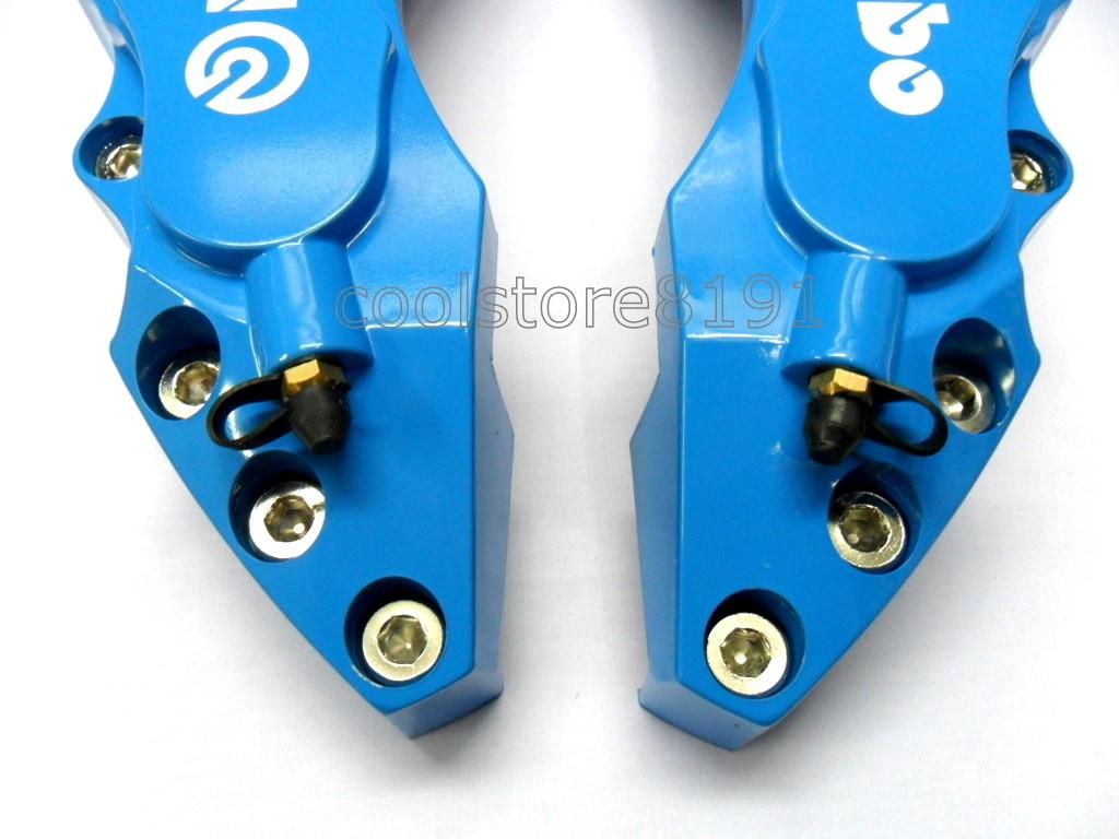 Plastic Measuring Caliper Covers : New big blue brembo look brake caliper cover f r pcs ebay