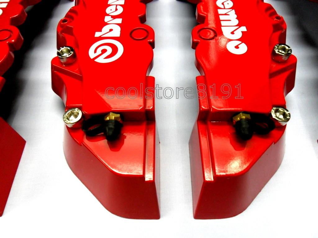 Plastic Measuring Caliper Covers : New red brembo look brake caliper cover f r pcs ebay