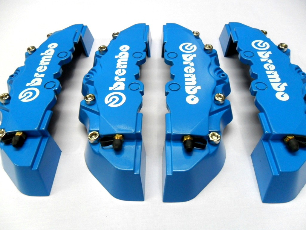 Plastic Measuring Caliper Covers : New blue brembo look brake caliper cover f r pcs ebay