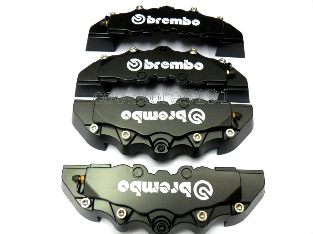 Plastic Measuring Caliper Covers : New black brembo look brake caliper cover f r pcs ebay