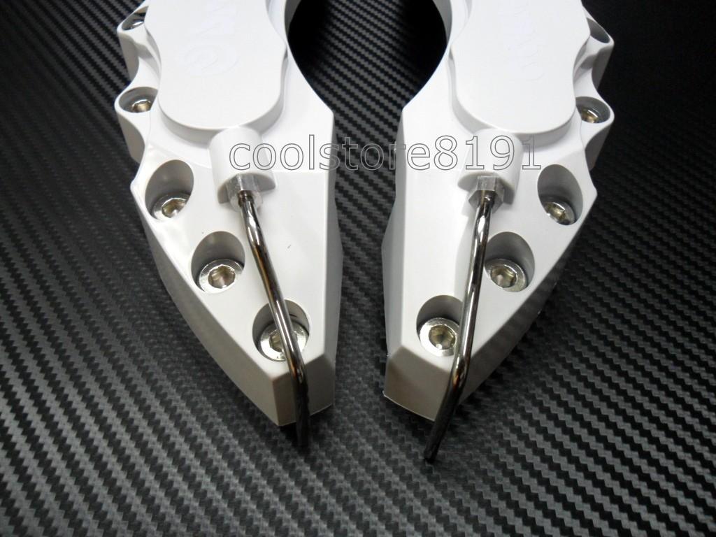 Plastic Measuring Caliper Covers : New big white brembo look brake caliper cover f r pcs ebay