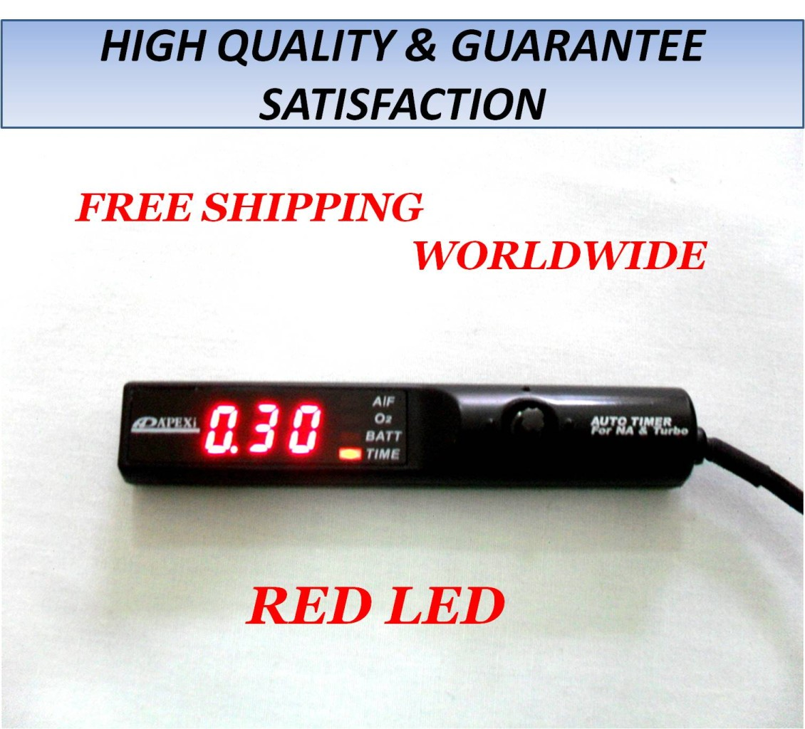 NEW APEXI TURBO TIMER NA TURBO BLACK CONTROL RED LED EVO WRX STI RX7 ...