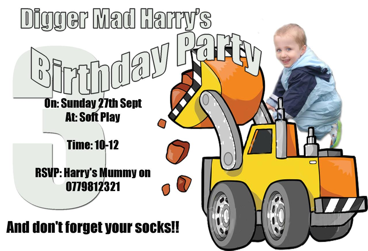 Boys-Digger-Truck-Birthday-Party-Invitations-Invites