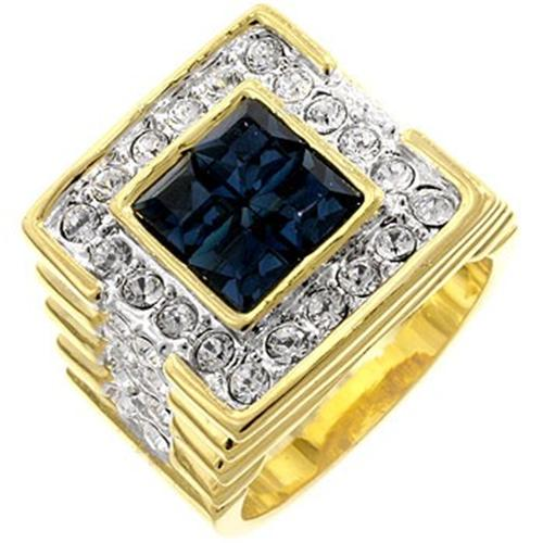 14K-GOLD-EP-5-0CT-CZ-SAPPHIRE-MENS-DRESS-RING-sz-9-R-5