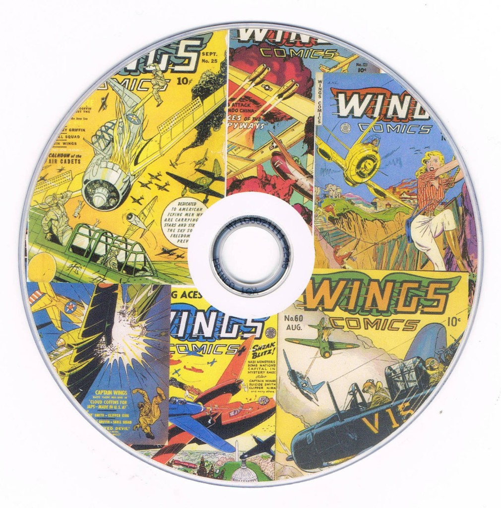 124-Wings-Comics-on-two-Disks-Fighting-Aces-of-War-Skies-War-Planes-WW11