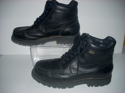Rockport Black Shoes on Mens Rockport Black Lace Gore Tex Boots Size 11 M  Ebay
