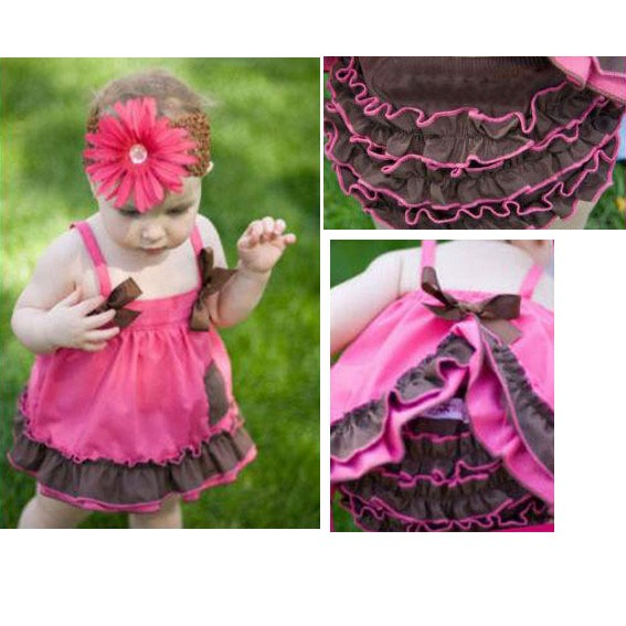 Girl-Baby-Ruffle-Top-Dress-Pants-Set-New-Bloomers-Nappy-Cover-Size-0-3Y