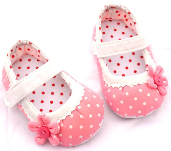 Pink Bow New Infant Toddler Baby Girl Mary Jane Shoes