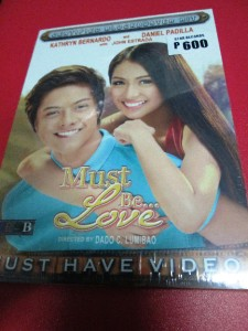 Must Be Love TAGALOG original dvd Kathryn Bernardo Daniel ...