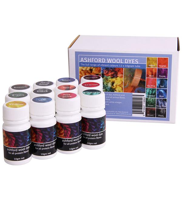 Ashford Wool Dye Collection (12 x 10gm)