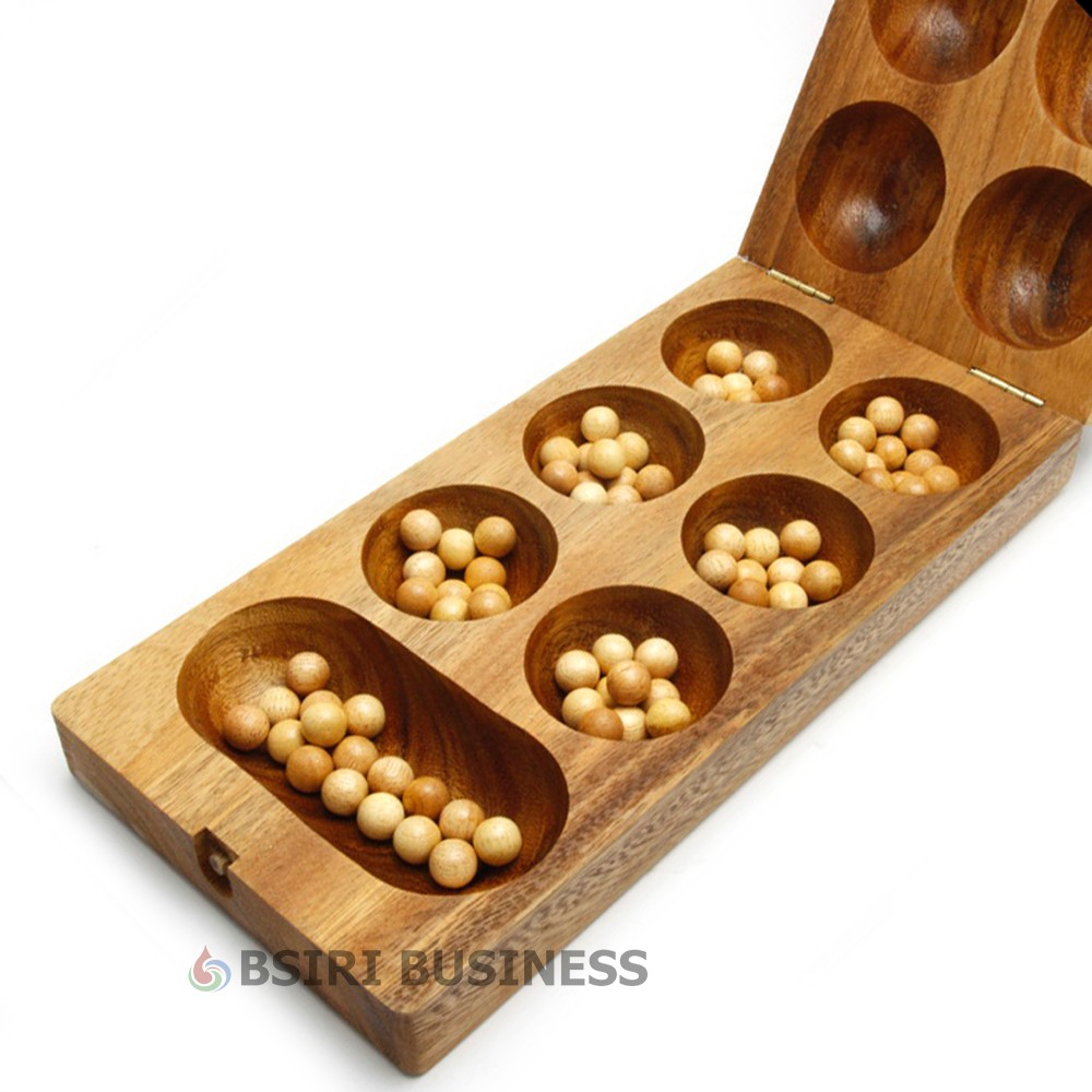 Details about New Wooden Kalaha mancala Strategy folding board games ...