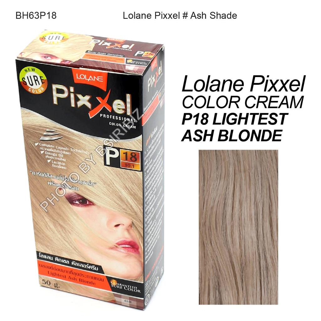 Lolane Pixxel Hair Permanent Dye Color Cream Various Colors Ash Color Shade