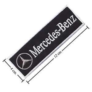 Mercedes benz name logo iron on patch sew badge tag new for Mercedes benz iron