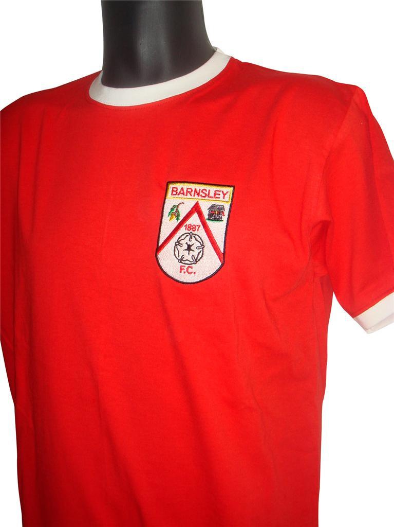 Retro-Barnsley-Football-T-Shirt-New-Sizes-S-XXL-Embroidered-Logo