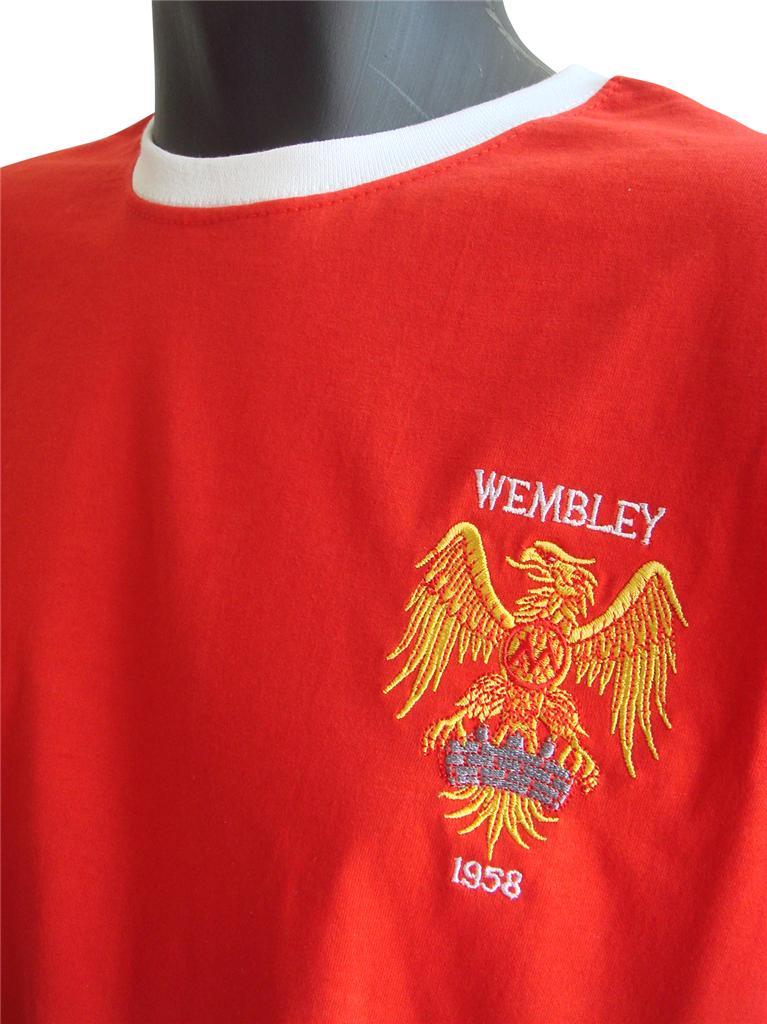 Retro manchester united football t shirt new sizes s