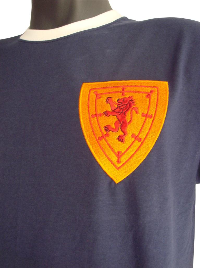 Retro-Scotland-1960s-Football-T-Shirt-New-Sizes-S-XXL