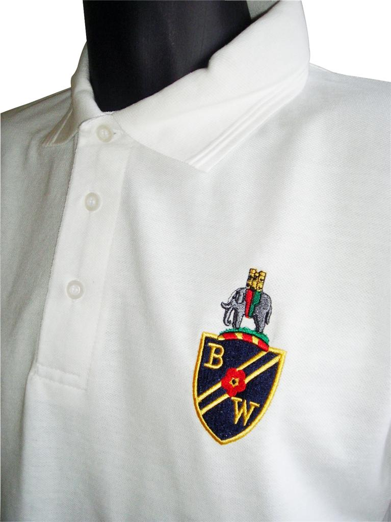 Retro-Bolton-Wanderers-White-Football-Polo-New-Sizes-S-XXXL-Embroidered-Logo