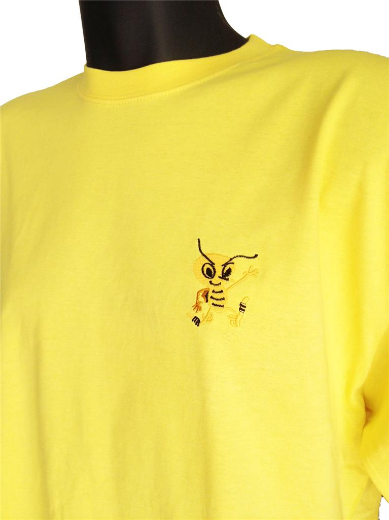 Retro-Watford-1970s-Gold-Football-T-shirt-New-Sizes-S-XXXL-Embroidered-Logo